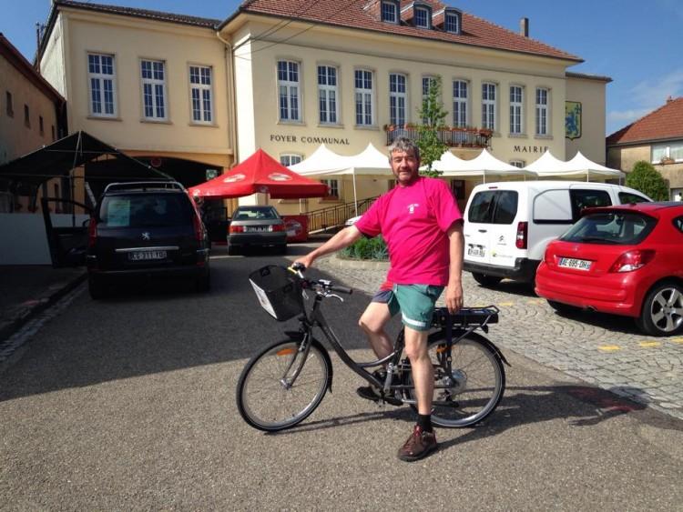 Christian sur son vélo électrique